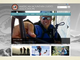 American Mountain Guides Association website