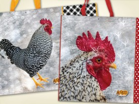 Cracker Barrel Rooster tote bags