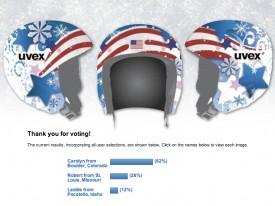 NBC Olympics / Lindsey Vonn ski helmet